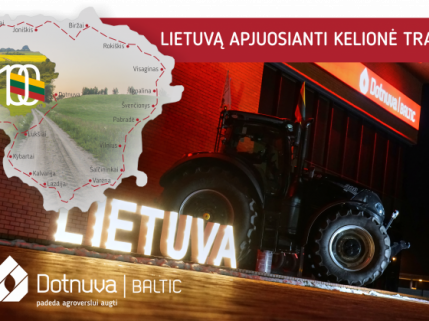 Lietuvą apjuosianti kelionė traktoriumi