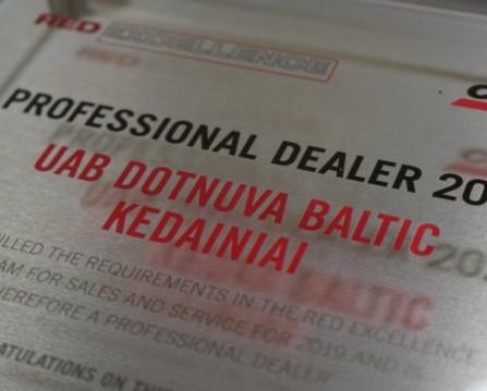 """""""Dotnuva Baltic"""" paslaugų kokybę patvirtino """"Case IH"""" tarptautinio lygio įvertinimas"""