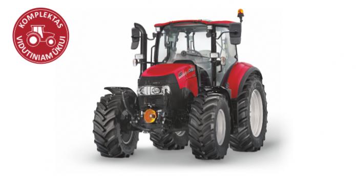 Traktorius Case IH Luxxum 120 - komplektas vidutiniam ūkiui