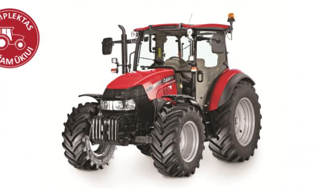 Traktorius Case IH Farmall 105C - komplektas mažam ūkiui